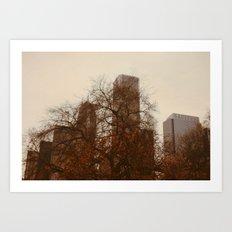 Autumn in Chicago Art Print