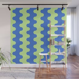 apple and azure smal waves Wall Mural