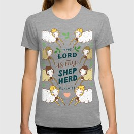 The Lord Is My Shepherd Christian Religious Blessings T-shirt