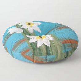 Simple Cactus Flowers Floor Pillow