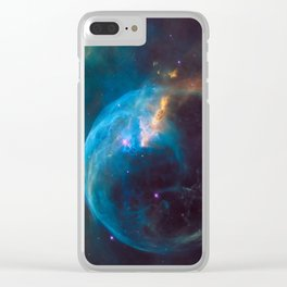 picture of star by Hubble: bubble nebula Clear iPhone Case