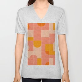 Retro Tiles 03 #society6 #pattern Unisex V-Neck