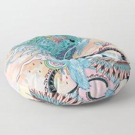 Journeying Spirit (ermine) Floor Pillow