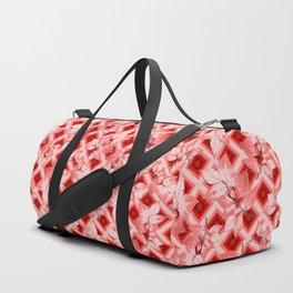 Pink Op Art Autumn Duffle Bag