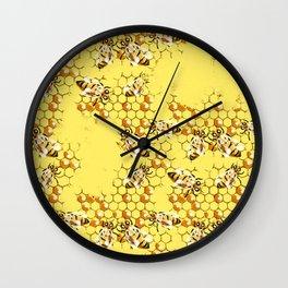 Honey Hive Wall Clock