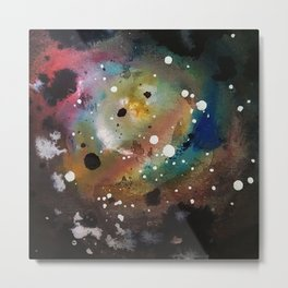Galaxy in Paint Metal Print