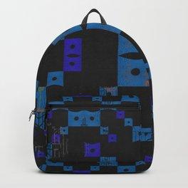 Shipibo Inspired Digital Embroidery Midcentury Modern Pattern Backpack