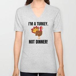 Vegan Thanksgiving   Save Turkeys Unisex V-Neck