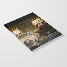Old Car in a Garage Notebook