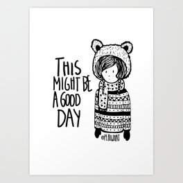 Teddy Bear Boy  Art Print
