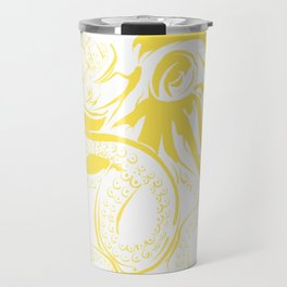 Octopus in Yellow Travel Mug
