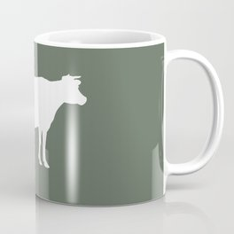Cow: Green Coffee Mug