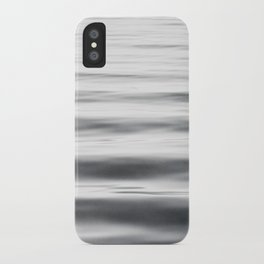 Black and White Water Ripple Photography, Grey Ocean Wave Art, Gray Sea Waves, Neutral Modern Photo iPhone Case