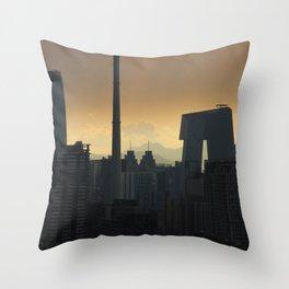 Western Sky, Beijing Throw Pillow