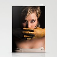 black and gold Stationery Cards featuring Black & Gold by Levi Price