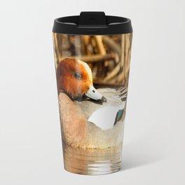Eurasian Wigeon at the Pond Travel Mug