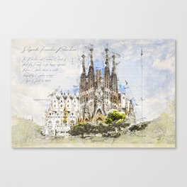 Sagrada Familia, Barcelona Spain Canvas Print