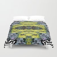 succulents Duvet Covers featuring Succulents by saralynn