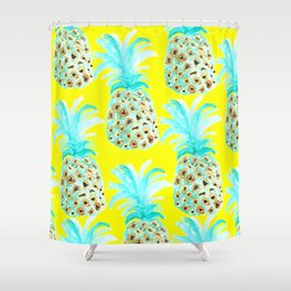 Pineapple City Shower Curtain