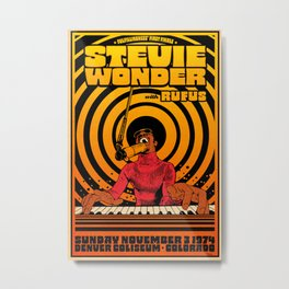 Stevie Wonder Concert Poster Metal Print