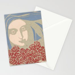 Woman's Head with Roses, Koloman Moser, 1899 Stationery Cards