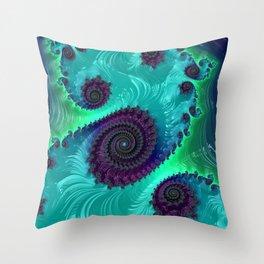 Berry Lime Twist - Fractal Art Throw Pillow