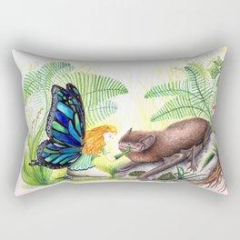 The fairy and the bat Rectangular Pillow