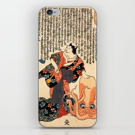 The Cat Turned into a Woman iPhone Skin