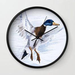 Duck bird art Wall Clock
