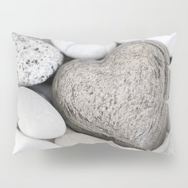 Stone Heart and pebble greige tones Pillow Sham