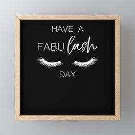 Fabu Lash Beautician Saying Funny Gift Framed Mini Art Print
