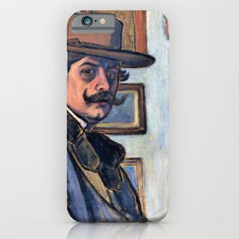 Jozsef Rippl Ronai - Self-Portrait in a brown hat - Digital Remastered Edition iPhone Case