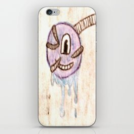Furry Paint Monster iPhone Skin