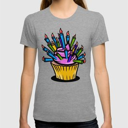 Birthday cupcake pattern T-shirt