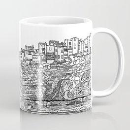 Bonifaccio in Corsica - Line Art Coffee Mug