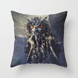 Eagle-Owl Throw Pillow