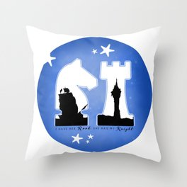 KNIGHT ROOK (Blue) Throw Pillow