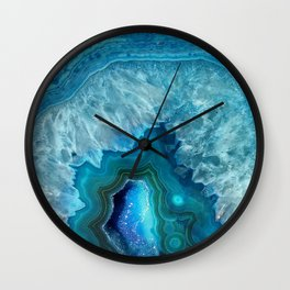 Turquoise Blue Agate Wall Clock