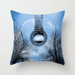 music blue  Throw Pillow