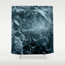 Enigmatic Deep Blue Ocean Marble #1 #decor #art #society6 Shower Curtain