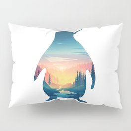Penguin and The Cold Air Pillow Sham