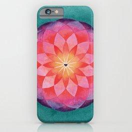 Watercolor Sacred Geometry Flower Mandala iPhone Case