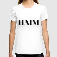 haim T-shirts featuring haim - shadowed by darknightdrive
