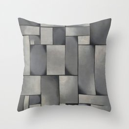 Theo van Doesburg - Composition in Gray - Rag-Time - Abstract De Stijl Painting Throw Pillow