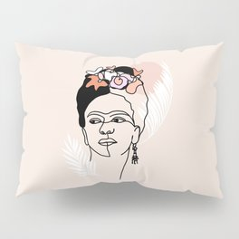 Brave and Strong Feminist Icon portrait Pillow Sham