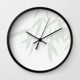 Leaves #Bamboo #Grey Wall Clock