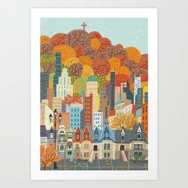 Montréal Art Print