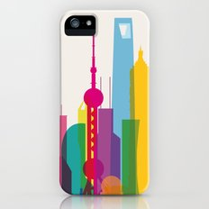 Shapes of Shanghai. Accurate to scale iPhone (5, 5s) Slim Case