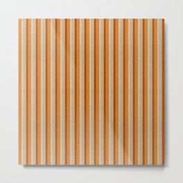 """Orange, Grey & Beige Deco Lines"" Metal Print"