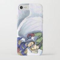 destiel iPhone & iPod Cases featuring Destiel Snow Angels by SmercArt